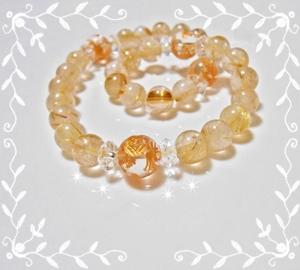 金龍とルチルの数珠