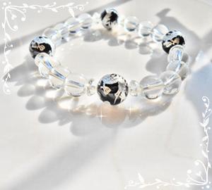 オニキスの銀龍のお守りブレス
